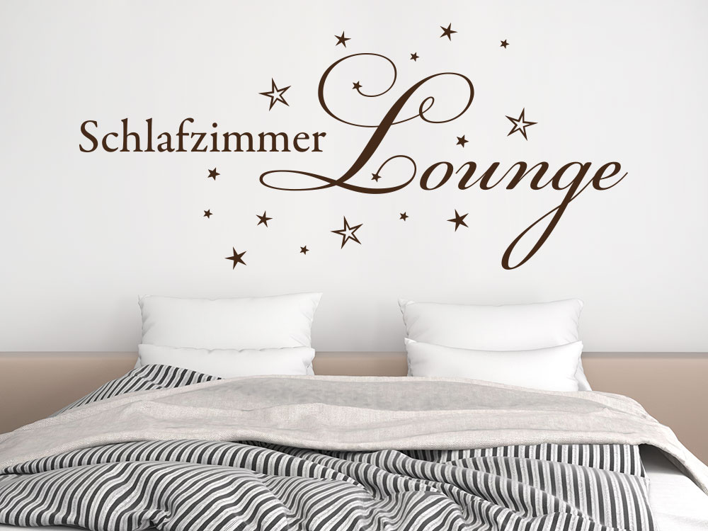 wandtattoo schlafzimmer lounge von klebeheld. Black Bedroom Furniture Sets. Home Design Ideas