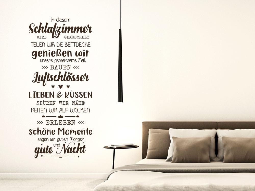 Wandtattoo Banner In diesem Schlafzimmer
