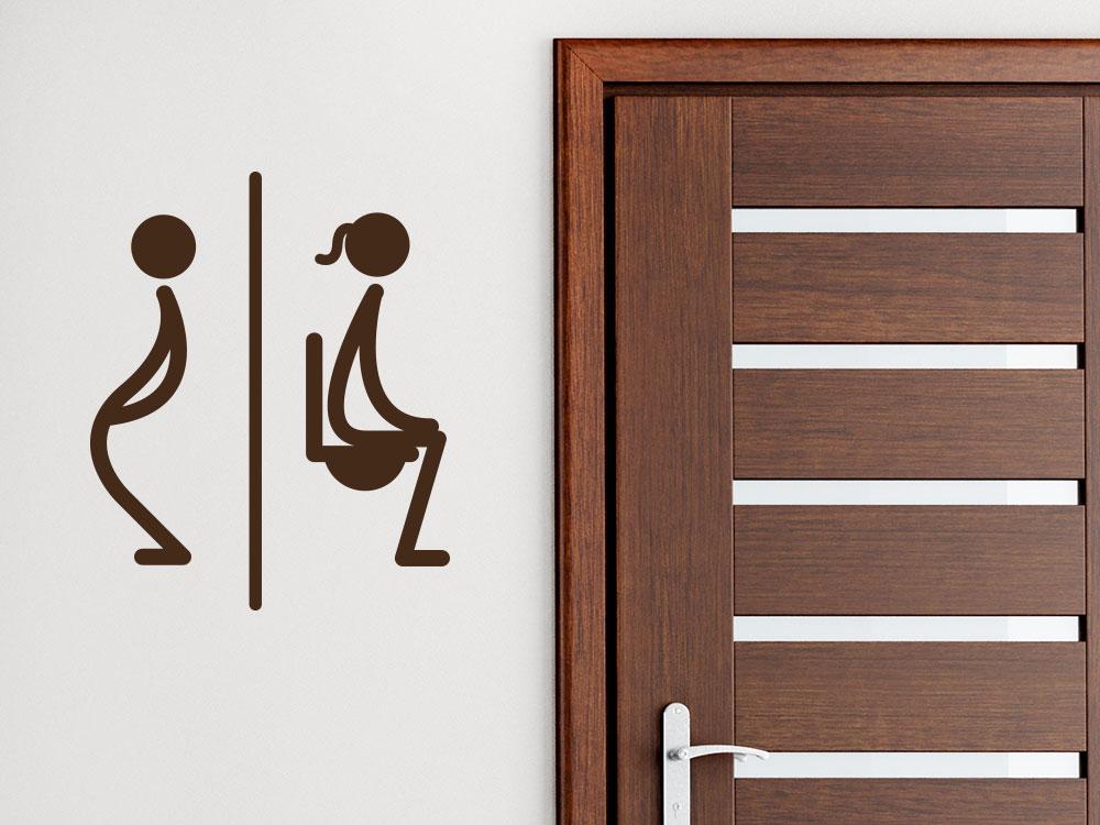 Wandtattoo WC Symbol im Flur