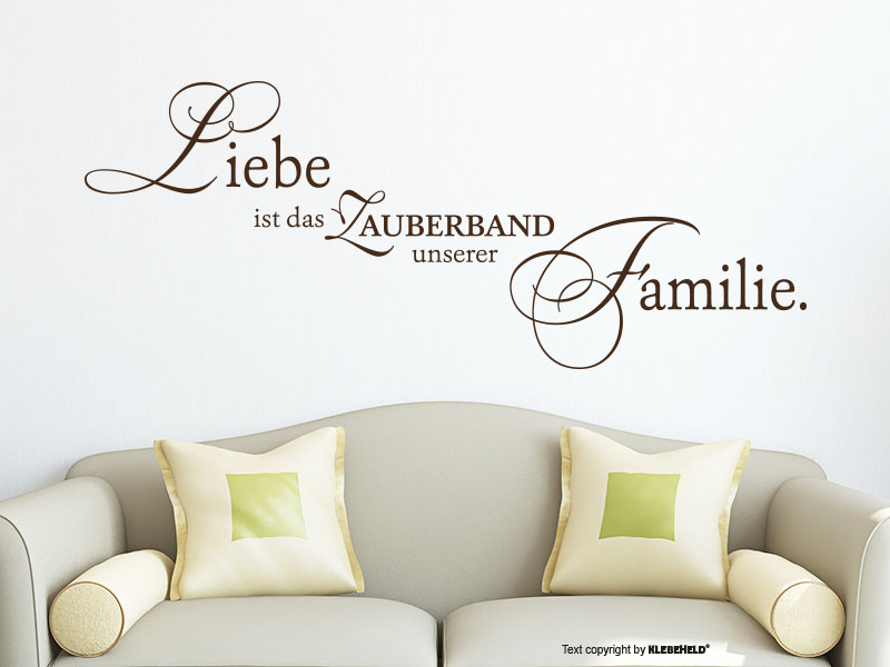 wandtattoo liebe ist das zauberband. Black Bedroom Furniture Sets. Home Design Ideas