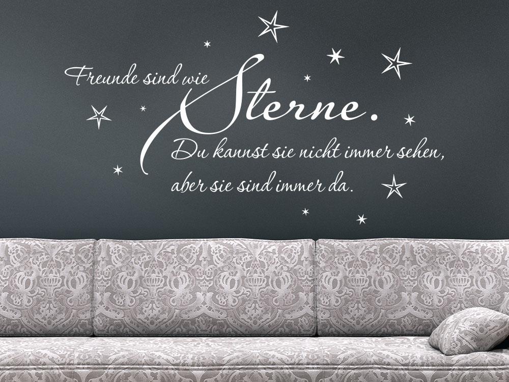 Wandtattoo Freunde sind wie Sterne im Wohnzimmer