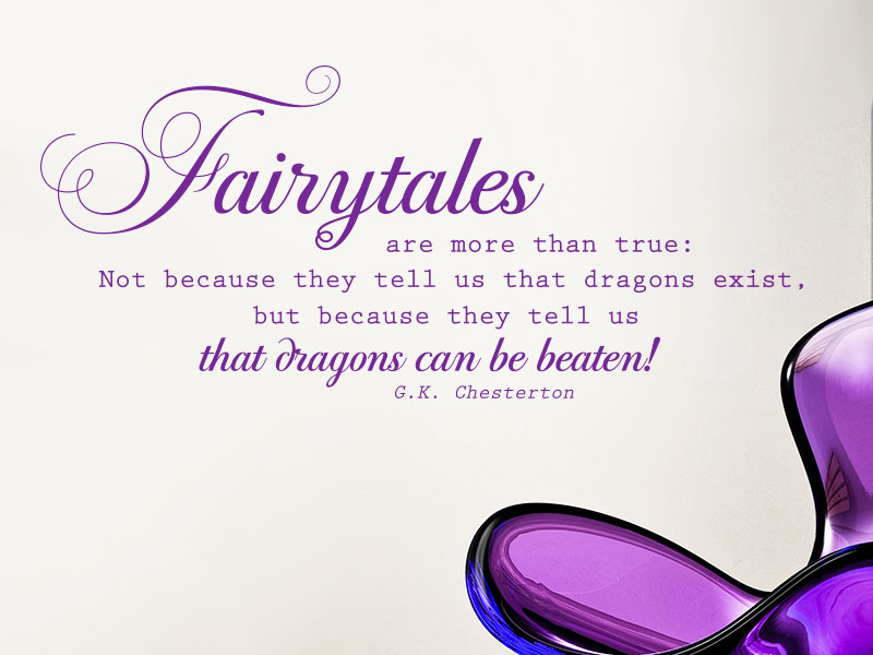 Fairytales Wandtattoo Zitat