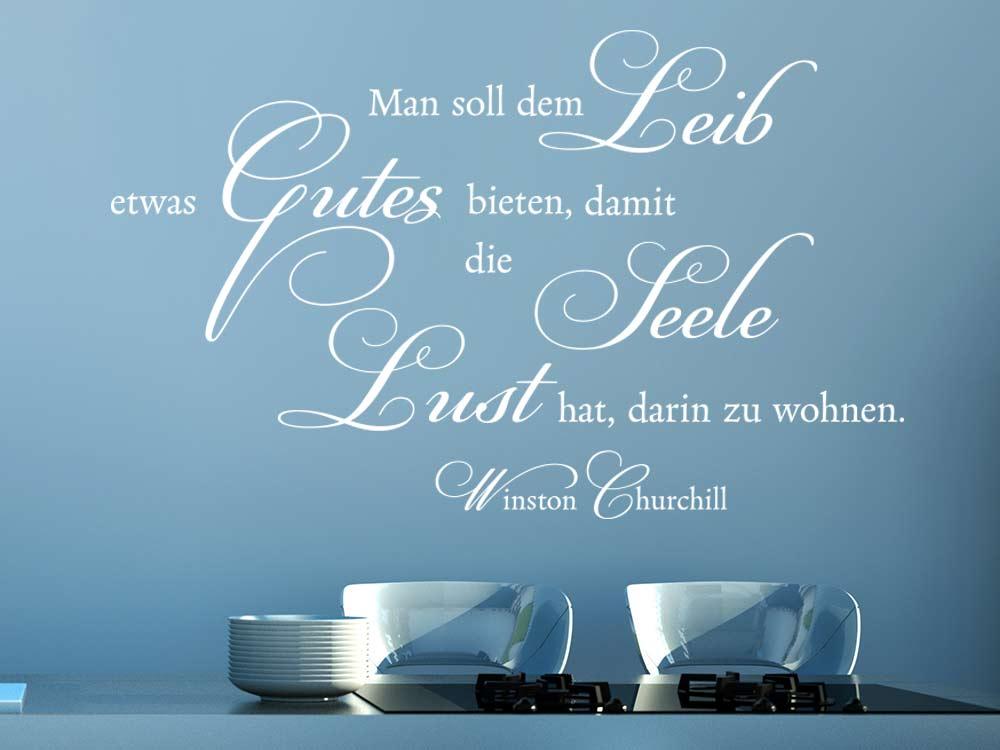 Wandtattoo Man sollte dem Leib Gutes bieten von Winston Churchill