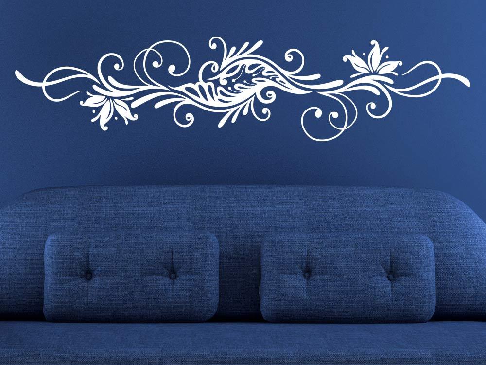 Wandtattoo Stilvolles Zierornament in heller Farbe