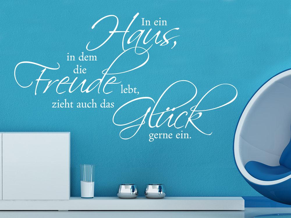 Wandtattoo Spruch In ein Haus... in Farbe Weiß als Wandgestaltungsidee