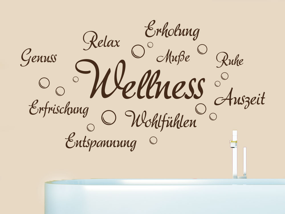 Wandtattoo Erholung und Wellness