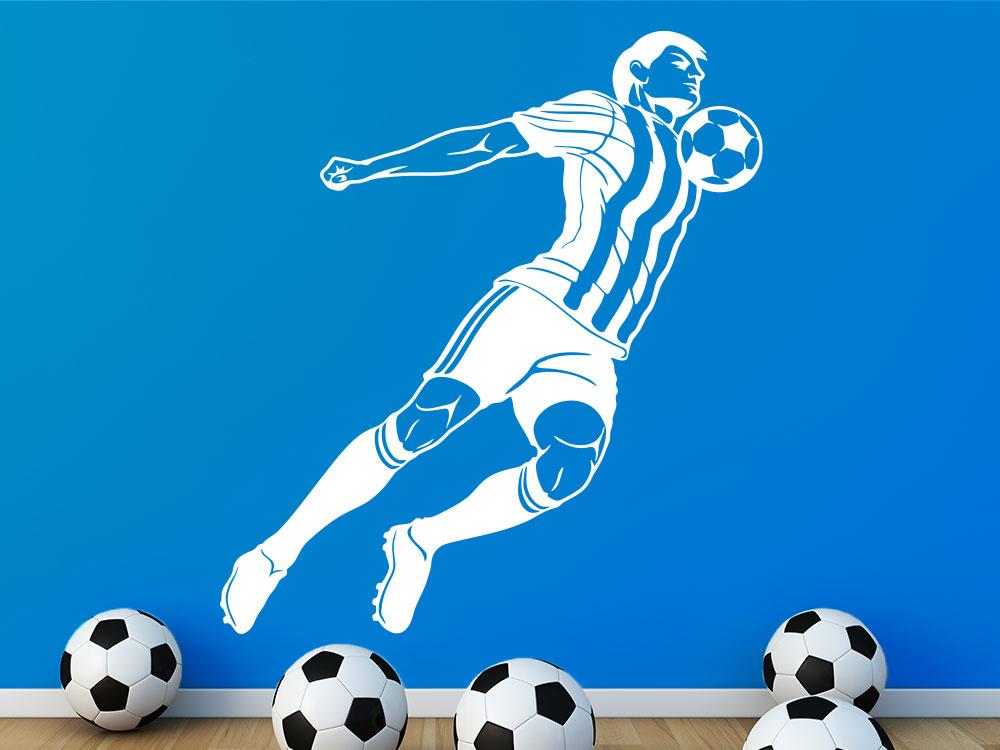 Fußball Wandtattoo Stürmer Im Jungendzimmer