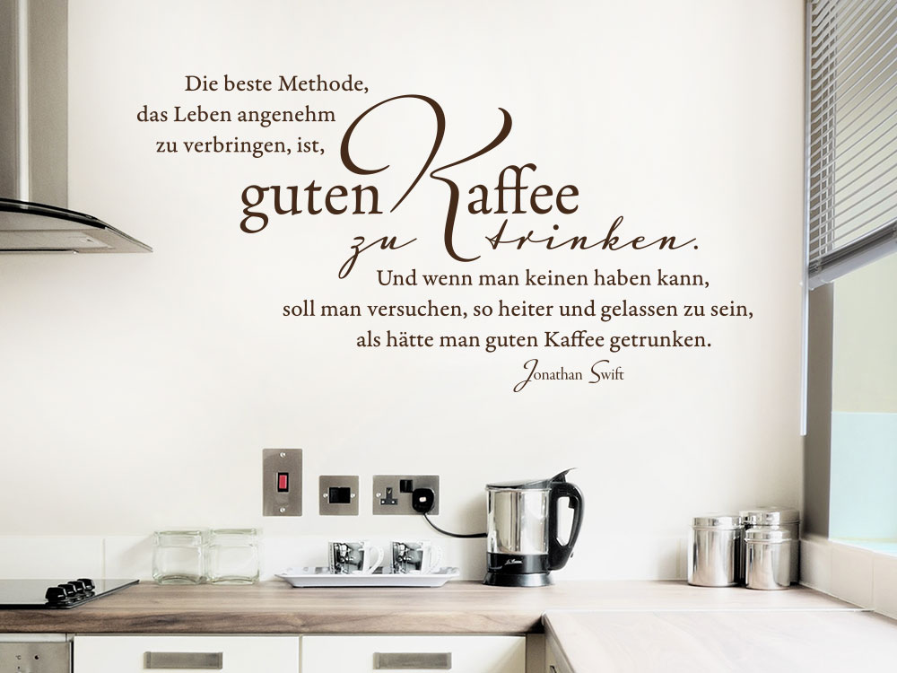 wandtattoo kaffee spruch reuniecollegenoetsele. Black Bedroom Furniture Sets. Home Design Ideas
