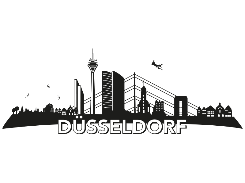 Wandtattoo skyline d sseldorf reuniecollegenoetsele - Dusseldorf wandtattoo ...