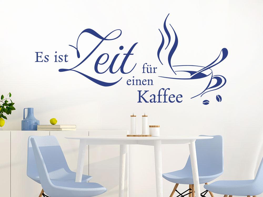 Wandtattoo Es ist Zeit für einen Kaffee mit Tasse im Esszimmer