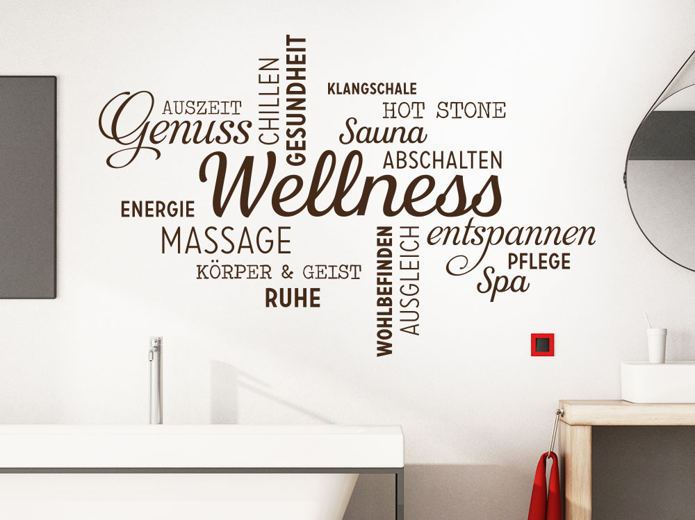 Wandtattoo Wellness Worte