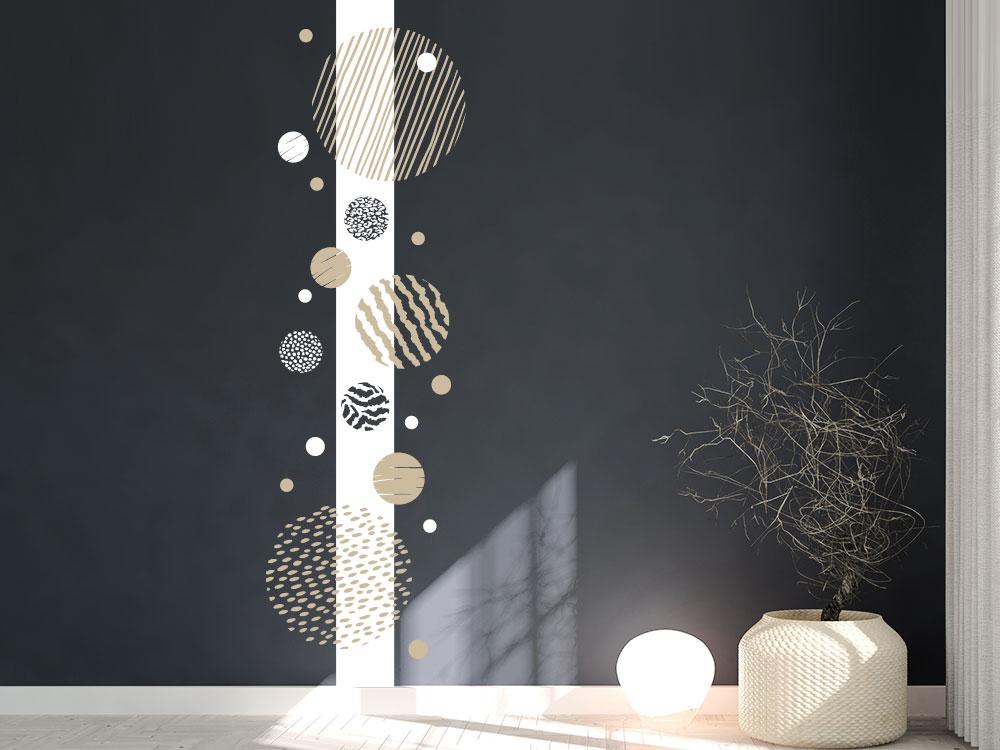 Wandtattoo Wandbanner Punkte und Kreise