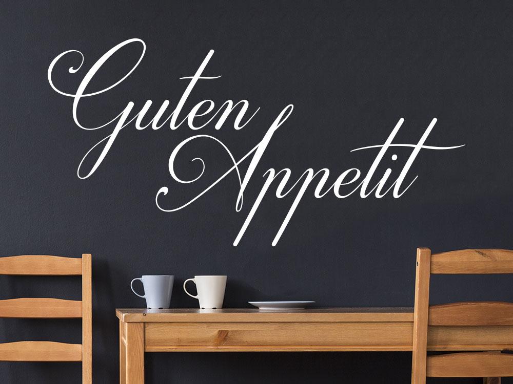 Guten Appetit Schriftzug Wandtattoo
