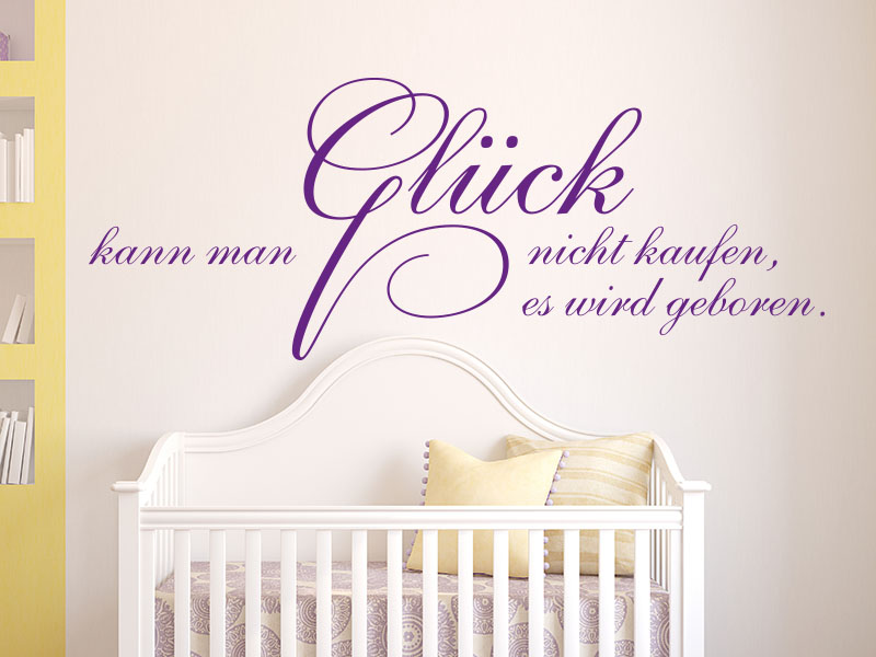 Wo Kann Ich Bilder Kaufen wandtattoos baby glück kann nicht kaufen als wandtattoo