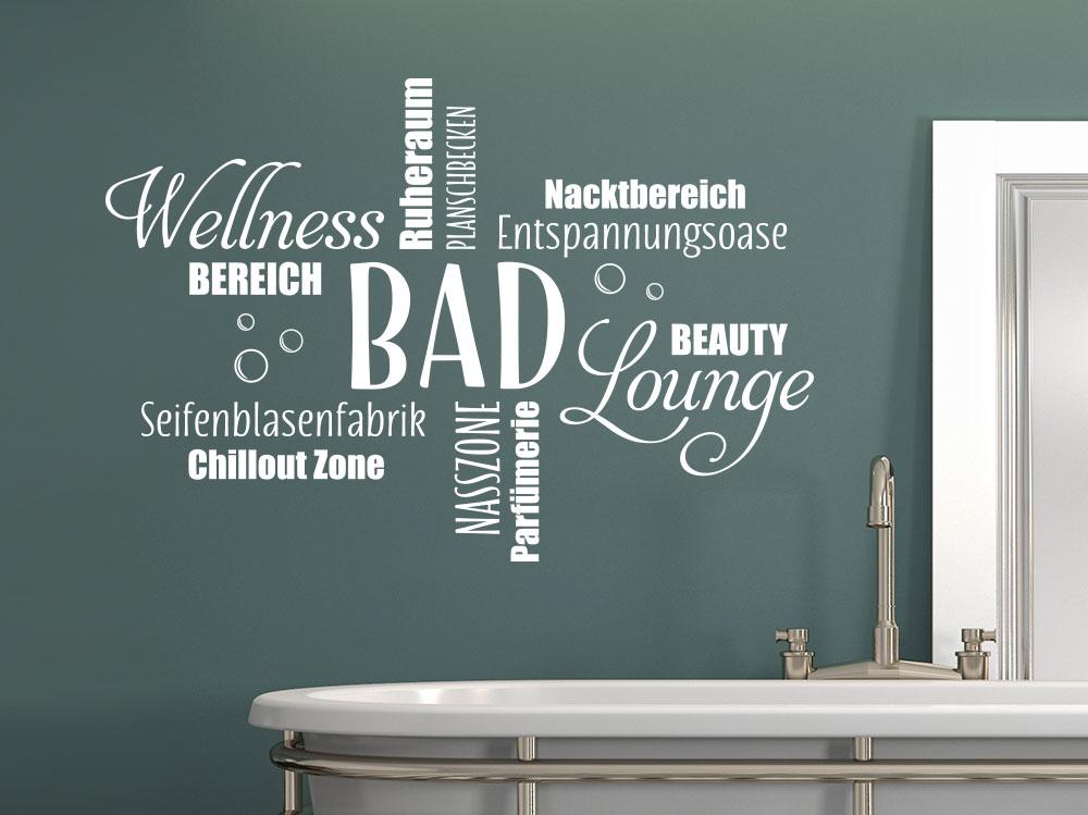 Wandtattoo Wortwolke Bad von KLEBEHELD®.DE