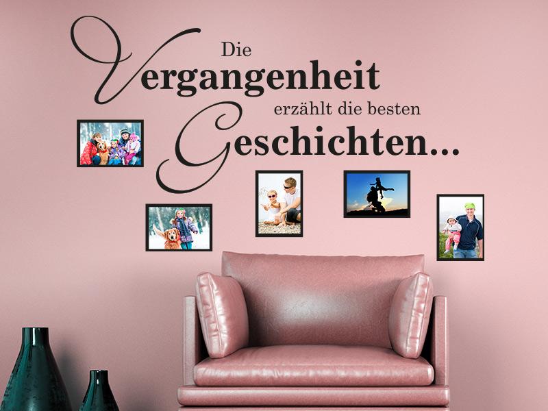 Wandtattoo Fotorahmen Die Vergangenheit erzählt die besten Geschichten