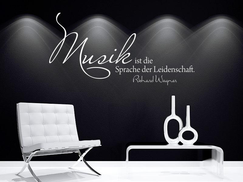 Wandtattoo Musik ist die Sprache der Leidenschaft.