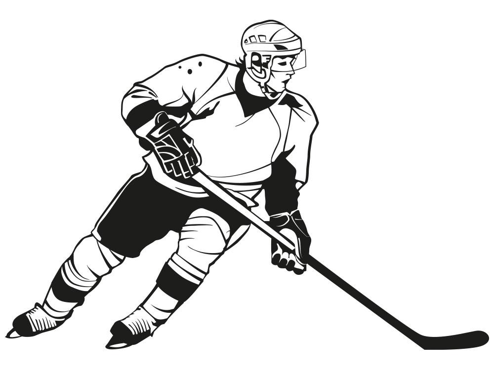 Wandtattoo Eishockeyspieler - Einzelansicht des Wandtattoos
