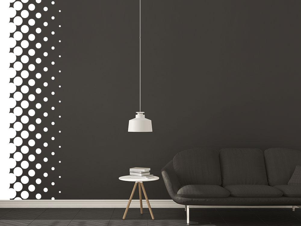 Wandbanner Design Dots Wandtattooim Wohnzimmer