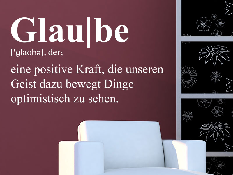 Wandtattoo Definition Glaube