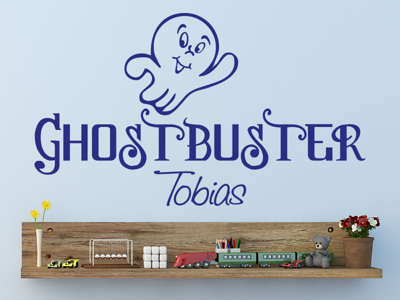 Wandtattoo Ghostbuster mit Wunschname