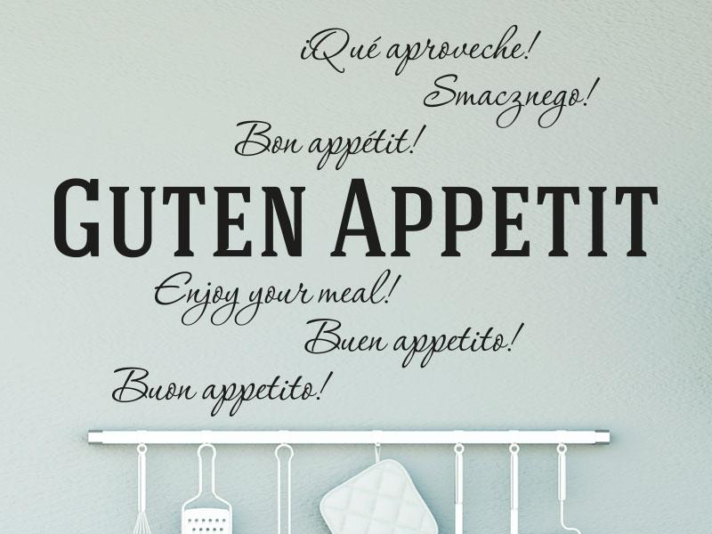 Wandtattoo Guten Appetit in mehreren Sprachen