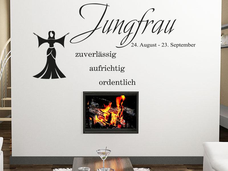 jungfrau wandtattoo sternzeichen als wandtattoos horoskop. Black Bedroom Furniture Sets. Home Design Ideas