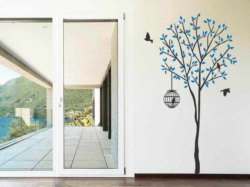 Wandtattoo Schmaler Baum