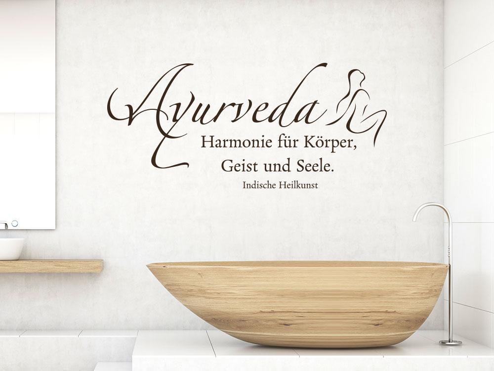 Wandtattoo Ayurveda Harmonie für Körper Geist und Seele
