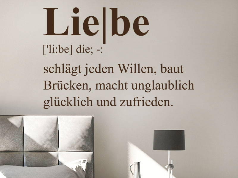 Wandtattoo Liebe Definition 3