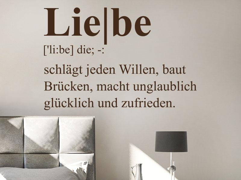 Wandtattoo Liebe Definition 3