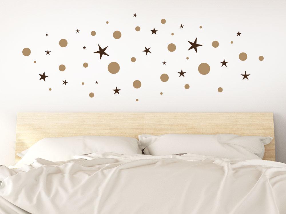 Wandtattoo Sterne Punkte Set