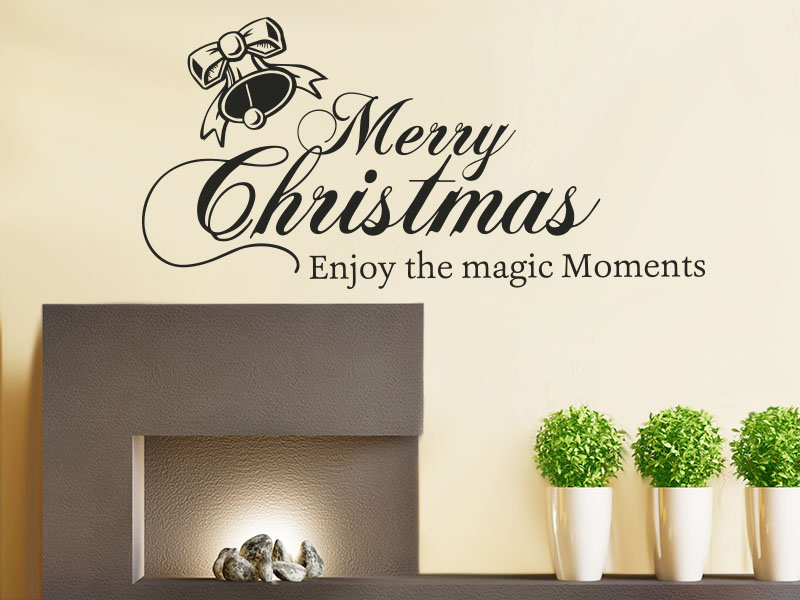 Wandtattoo - Merry Christmas and enjoy the magic Moments.
