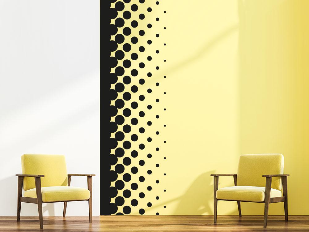 Wandtattoo Banner Design Kreise auf heller Wand