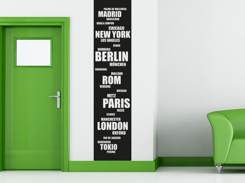 Wandtattoo Städte der Welt