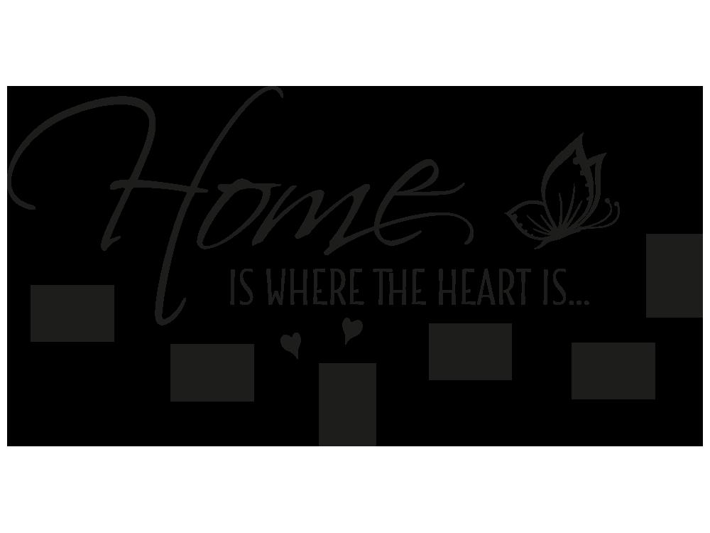 Wandtattoo Fotorahmen Home is where the heart | KLEBEHELD®