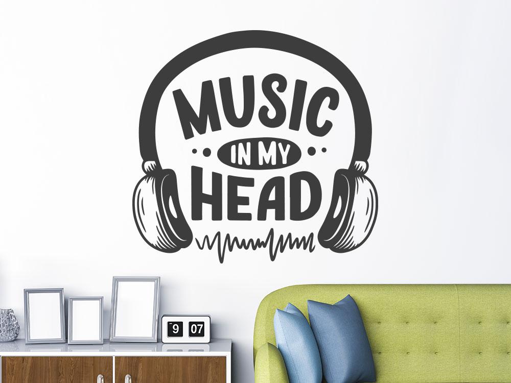 Wandtattoo Music in my head