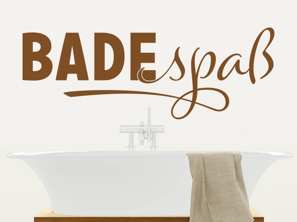 Wandtattoo Badespaß über Badewanne
