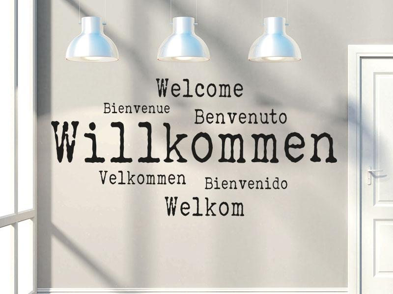 Wandtattoo Willkommen Sprachen