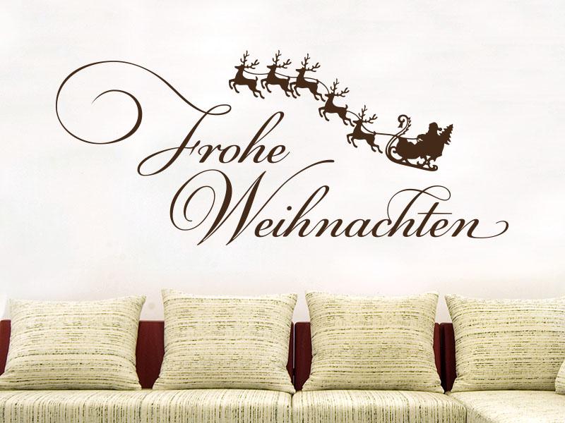 Wandtattoo Frohe Weihnachten mit Rentieren