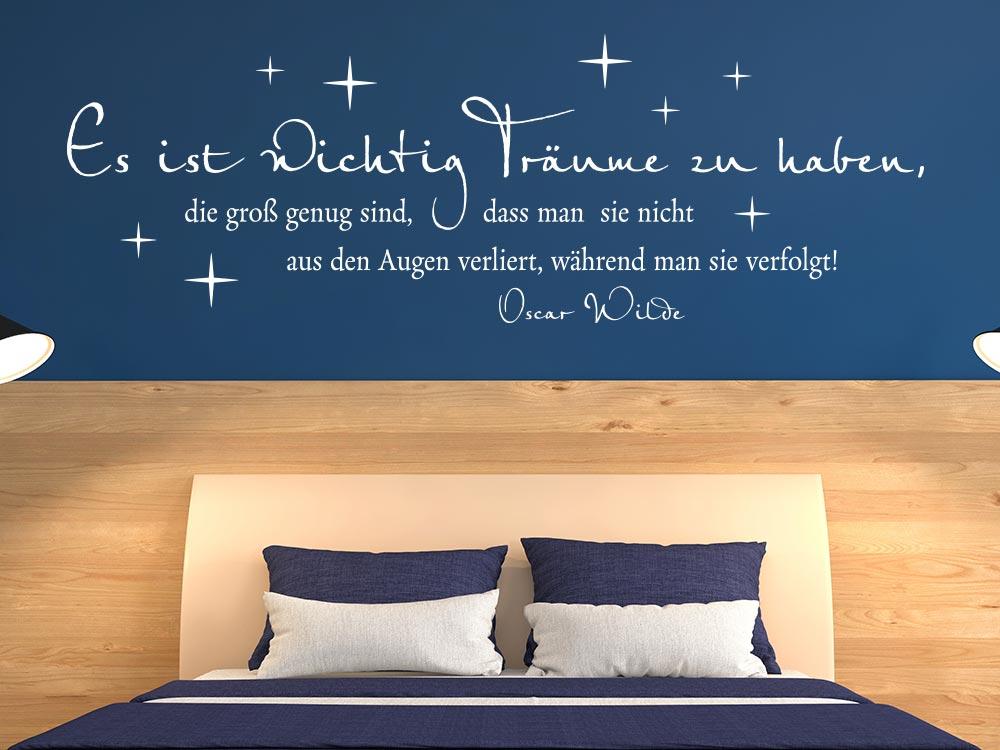 Wandtattoo Zitat Es ist wichtig Träume zu haben… von Oscar Wilde