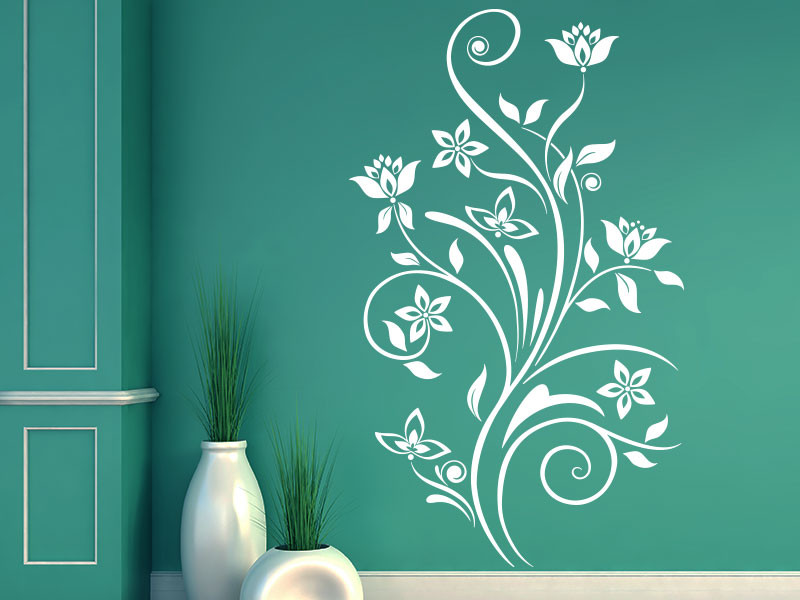Wandtattoo Ornament Fantasieblume