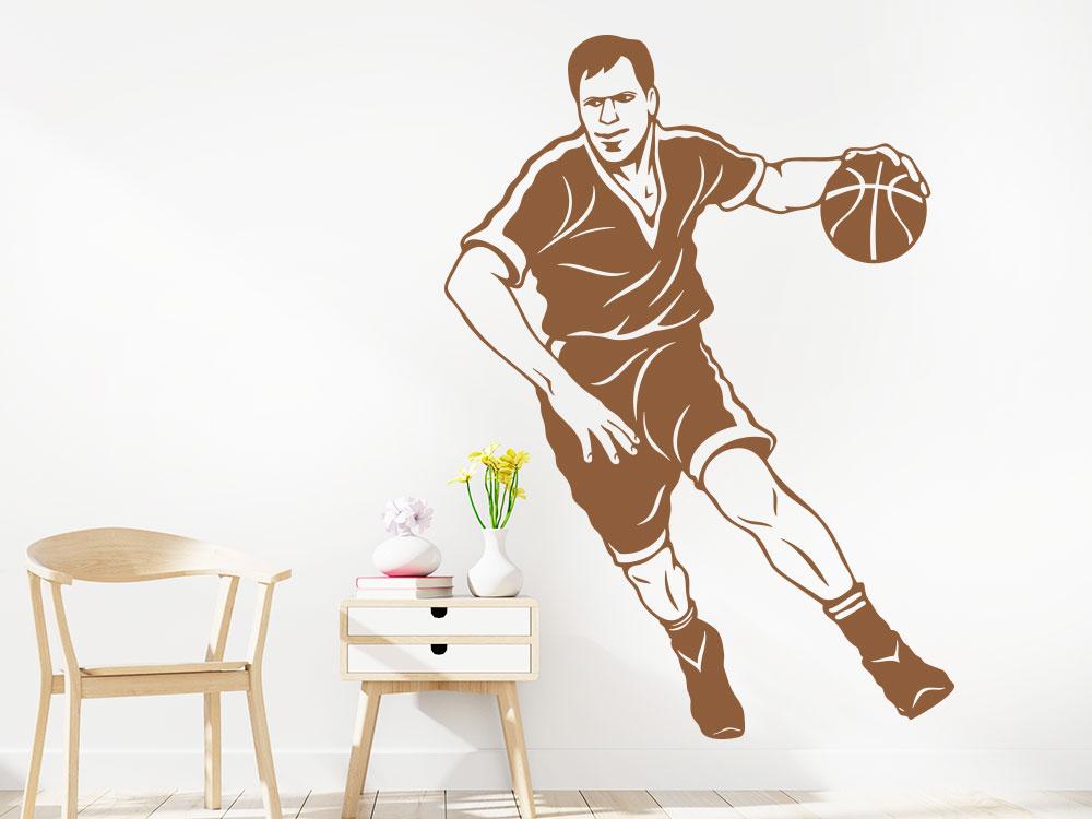 Wandtattoo Basketball Spieler im Jugendzimmer