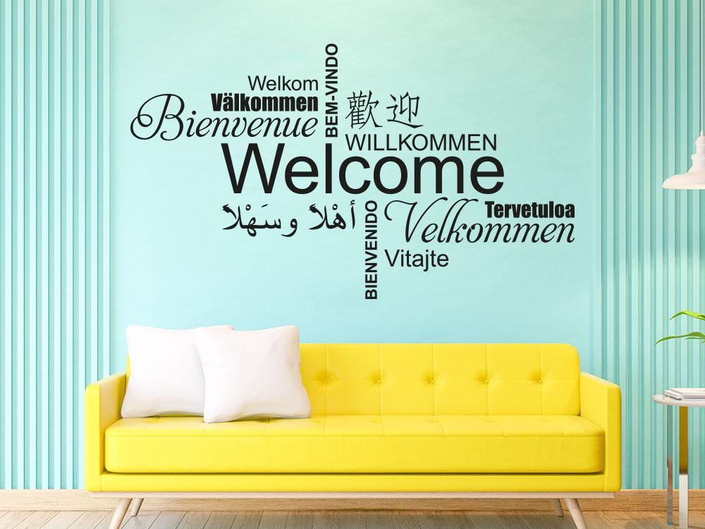 Wandtattoo Welcome Multikulturell