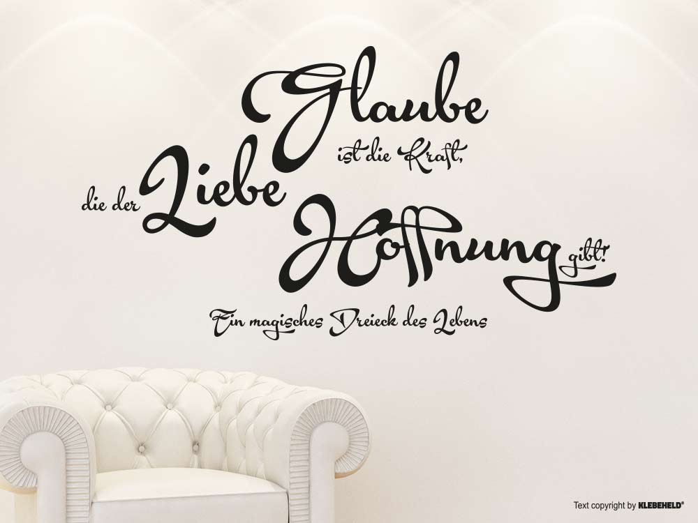 wandtattoo dreieck des lebens spruch klebeheld. Black Bedroom Furniture Sets. Home Design Ideas