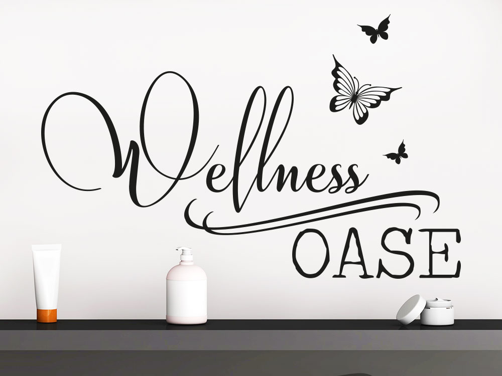 Wandtattoo Wellness Oase Schmetterlinge
