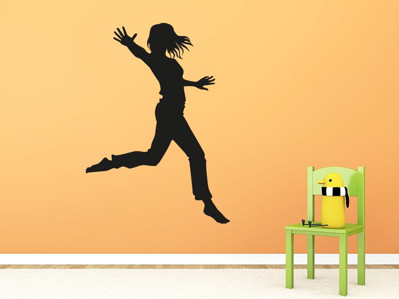 Wandtattoo Springendes Mädchen