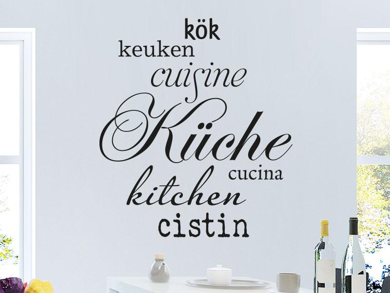 Wandtattoo Küche in Sprachen - KLEBEHELD® Wandtattoos