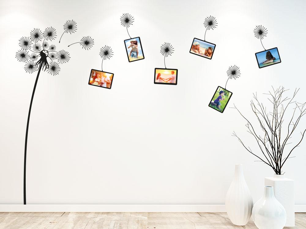 Wandtattoo Pusteblume Fotorahmen für persönliche Bilder