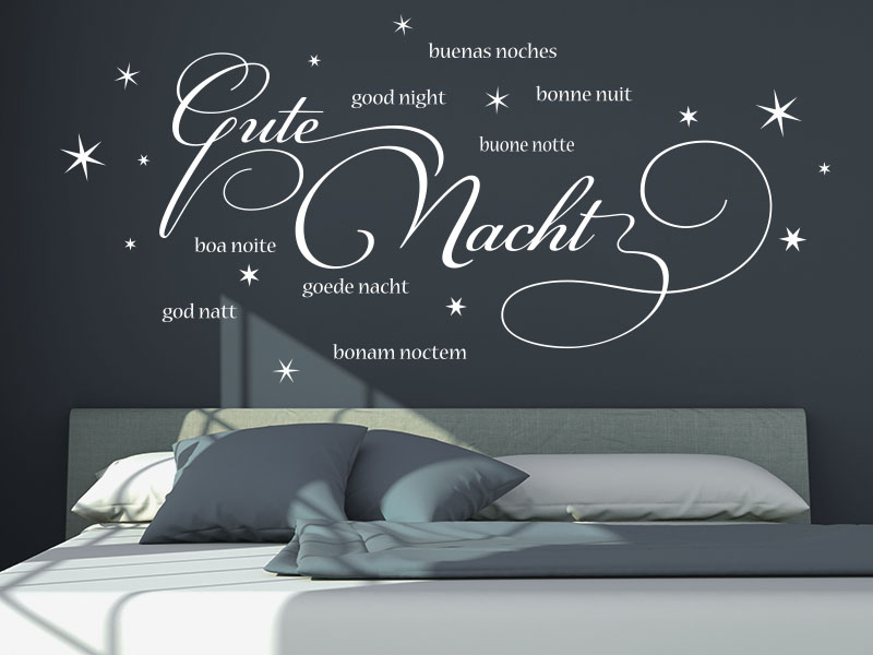 Wandtattoo Gute Nacht international